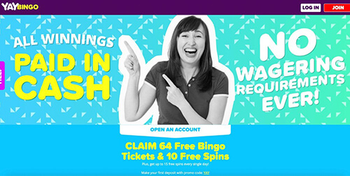 Yay Bingo Bonuses