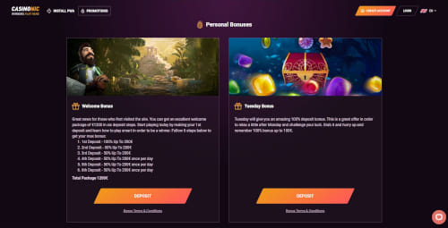 Casinonic Bonus