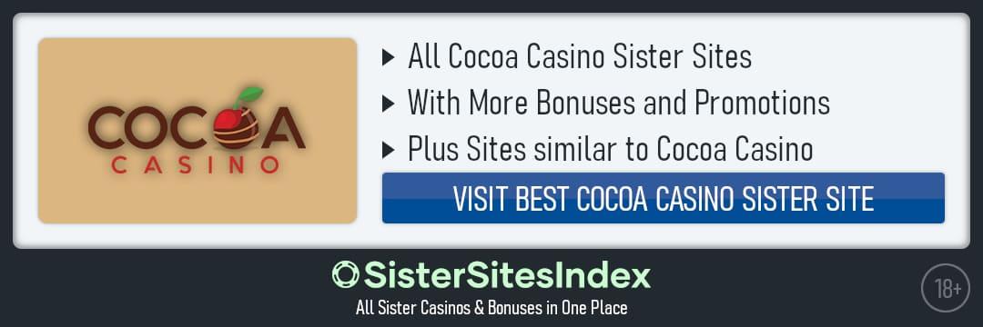 Cocoa Casino sister sites