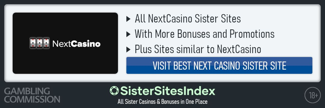 Next Casino sister sites