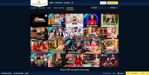 Viggo Slots Live Casino